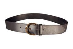 Belt used leather. Black belt used leather isolated Royalty Free Stock Images