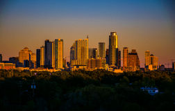 Belt of Venus over Austin Best city in Texas Stock Photos