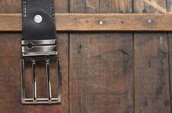 Belt On Wood Stock Photography