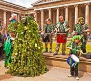 Beltane, desfile pagano del festival. Fotografía de archivo