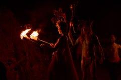 Beltane Fire Festival Bonfire Stock Photo