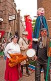 Beltane, Heidense festivalparade. Stock Foto's