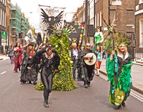 Beltane, heidnische Festivalparade. Stockfotografie