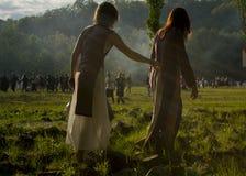 Beltane keltisk festival Italien royaltyfri foto