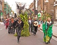 Beltane, parata pagana di festival. Fotografia Stock