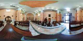 Beltiglio - 360 Overview of the Church of the Rosary royalty free stock photography