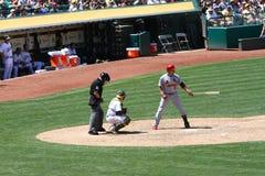 Высшая лига бейсбола - Beltran получает готовым ударить Стоковое фото RF