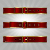 Belts with buckle. Illustration of slimming process Royalty Free Stock Photography