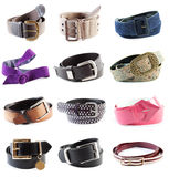Belts collection #1 | Isolated Royalty Free Stock Photography