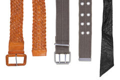 Belts are different Stock Images