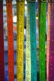 belts färgrikt handgjort Arkivfoton
