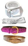 Belts - female accessories Royalty Free Stock Photography