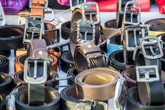 Belts on sale Royalty Free Stock Photo
