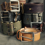 Belts, waistbands. Stock Photos