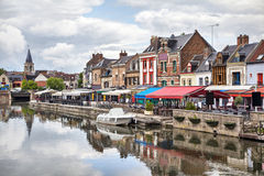 Belu embankment in Amiens, France Royalty Free Stock Photography
