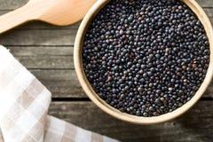 Beluga. Black lentil. Royalty Free Stock Photography
