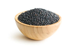 Beluga. Black lentil. Royalty Free Stock Photography