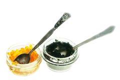 Beluga and salmon caviar Stock Photography