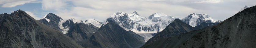 Belukha Mountain in the Altai Mountains, Russia. Stock Photo