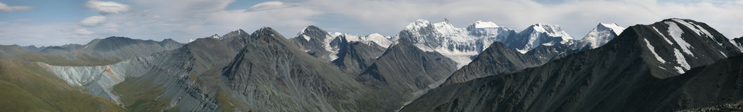 Belukha Mountain in the Altai Mountains, Russia. Royalty Free Stock Photography