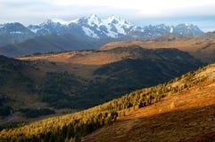 Belukha mountain at sunset Stock Photos