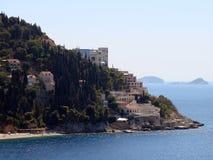 Belvédère d'hôtel, Dubrovnik images stock