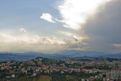 Belvédère dans Fermo, Italie. Photographie stock libre de droits