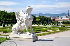 Belvédère de palais d'été à Vienne images stock