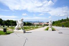 Belvédère de palais d'été à Vienne images libres de droits