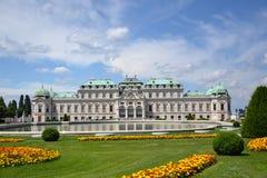 Belvédère de palais d'été à Vienne image stock