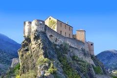 Belvédère de point, citadelle, Corte, Corse, France Photographie stock