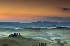 Belvédère en Toscane photo stock