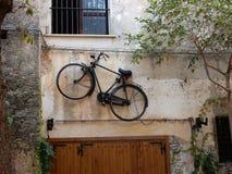 Belvédère maritime - bicyclette de clou photos libres de droits