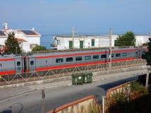 Belvédère Marittimo - passage de train rapide image stock