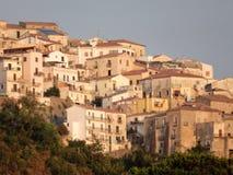 Belvédère Marittimo - vue du village photo stock
