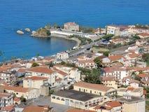 Belvédère Marittimo - vue panoramique du château images libres de droits