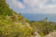 Belvédère Migliera dans Anacapri sur l'île de Capri, Italie images libres de droits