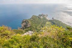 Belvédère Migliera dans Anacapri sur l'île de Capri, Italie photo stock