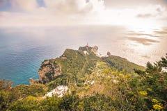 Belvédère Migliera dans Anacapri sur l'île de Capri, Italie images stock