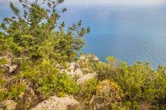 Belvédère Migliera dans Anacapri sur l'île de Capri, Italie photo libre de droits