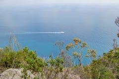 Belvédère Migliera dans Anacapri sur l'île de Capri, Italie photographie stock libre de droits