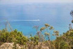 Belvédère Migliera dans Anacapri sur l'île de Capri, Italie photographie stock