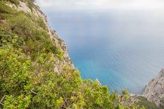 Belvédère Migliera dans Anacapri sur l'île de Capri, Italie image stock