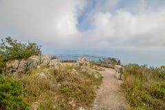 Belvédère Migliera dans Anacapri sur l'île de Capri, Italie image libre de droits