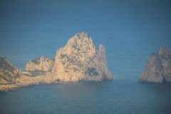Belvédère Migliera dans Anacapri sur l'île de Capri, Italie photos stock