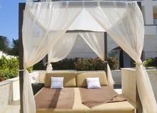 Belvédère promotionnel de champagne de Moet et de Chandon à l'hôtel et casino inclusif de Royalton photo libre de droits