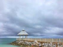 Belvédère sur la plage dans le cana de punta Images stock