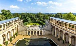 Belvédère, un palais dans le nouveau jardin sur la colline de Pfingstberg photos stock