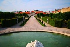 Belvédère Vienne de palais images stock