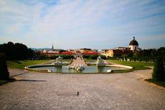 Belvédère Vienne de palais image stock